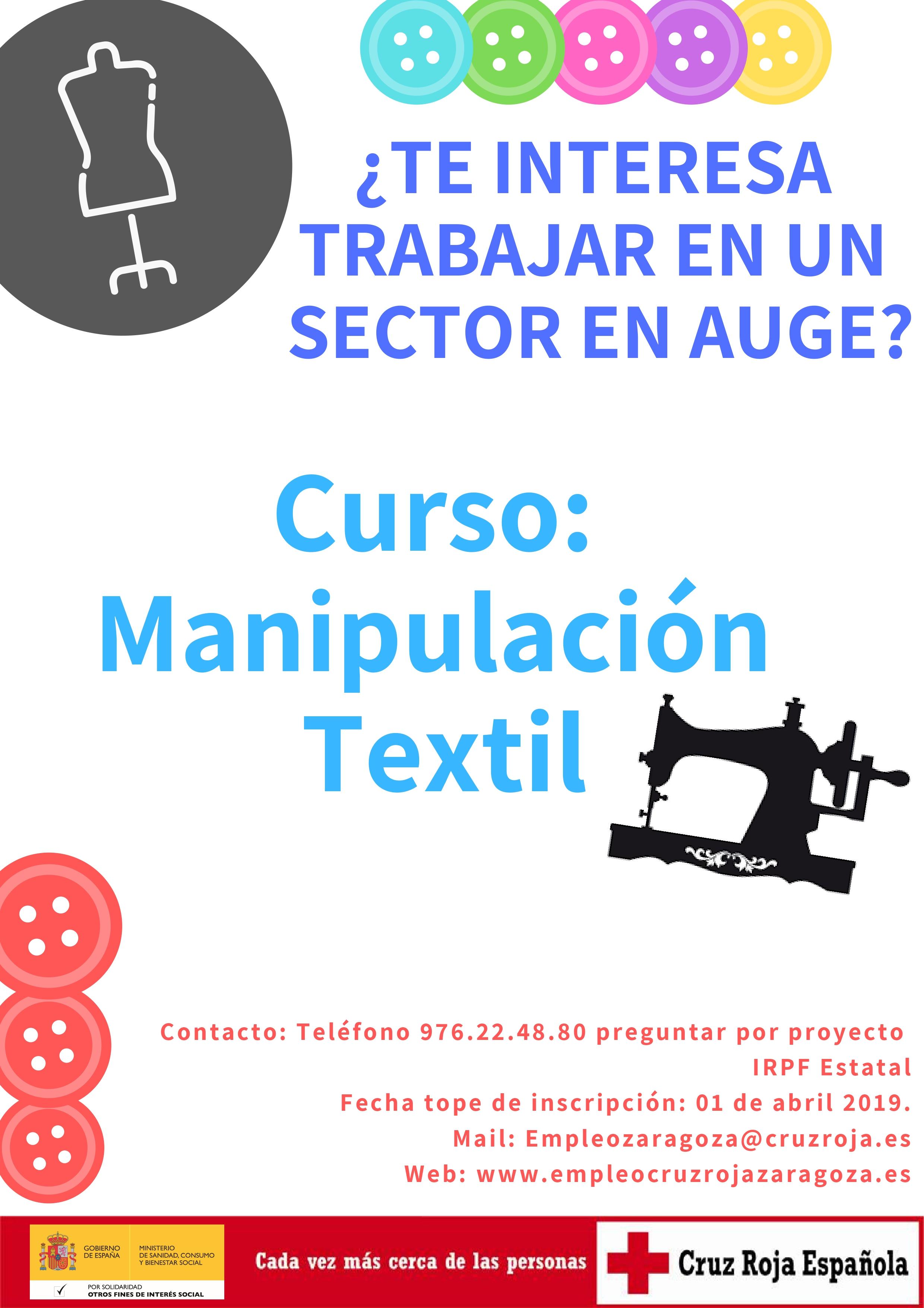 Curso de manipulación textil