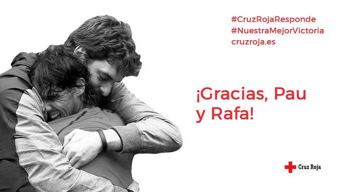 Plan Cruz Roja Responde. Rafa Nadal y Pau Gasol se unen a Cruz Roja contra el Covid 19